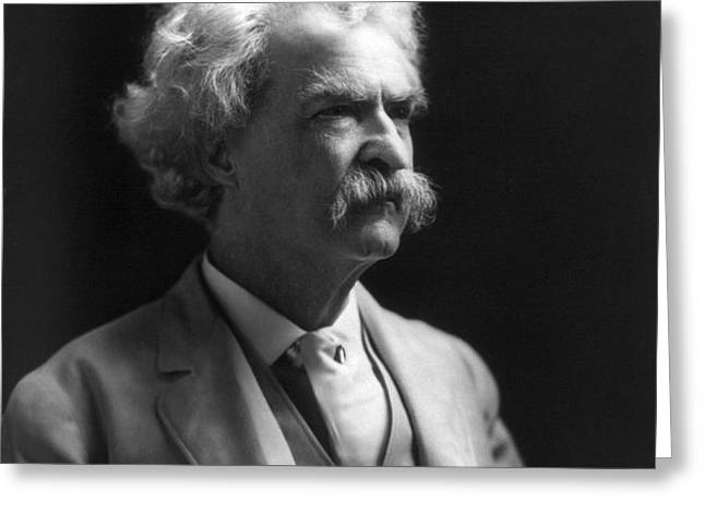 SAMUEL LANGHORNE CLEMENS Greeting Card by Granger