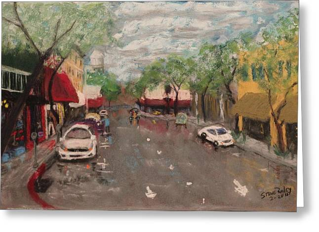 Downtown Pastels Greeting Cards - 3rd Greeting Card by Stephen Raley