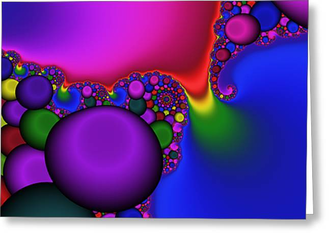 Bonbon Greeting Cards - 3X1 Abstract 914 Greeting Card by Rolf Bertram