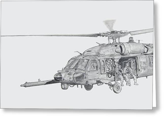 Military Airplanes Greeting Cards - 4 160th SOAR A Chupacabras Greeting Card by Nicholas Linehan