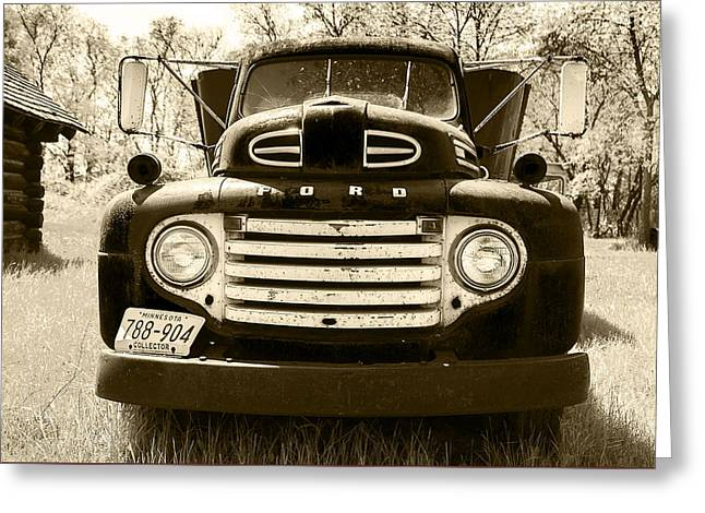 Artist Photographs Greeting Cards - 1949 Ford Truck Greeting Card by Donald  Erickson