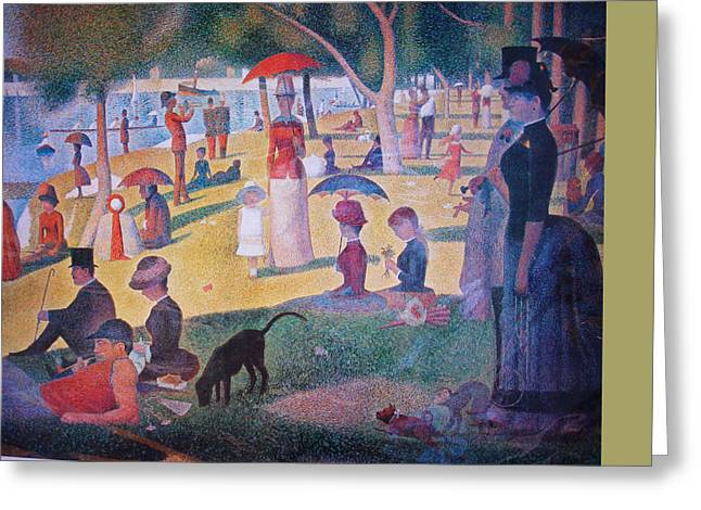 A Sunday On La Grande Jatte Greeting Card by Georges Seurat