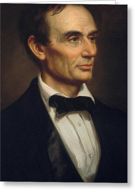 Orator Greeting Cards - Abraham Lincoln Greeting Card by George Peter Alexander Healy