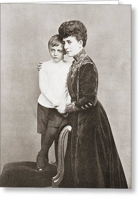 Marie-louise Greeting Cards - Alexandra Of Denmark, 1844 Greeting Card by Vintage Design Pics