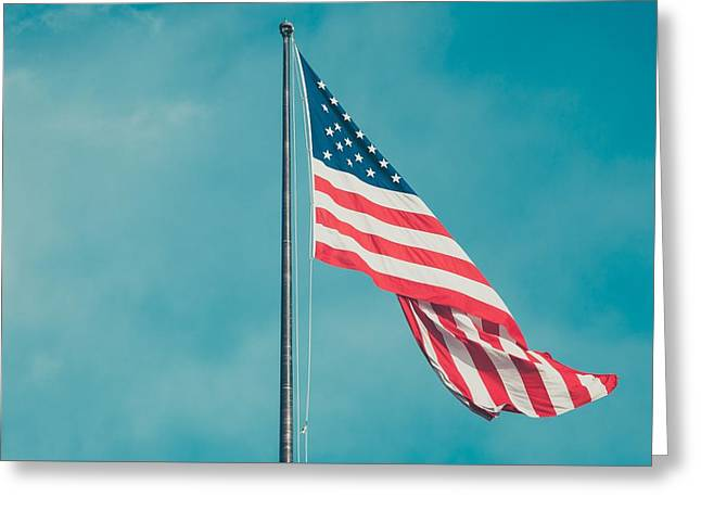 American_flag Greeting Cards - American flag Greeting Card by FL collection
