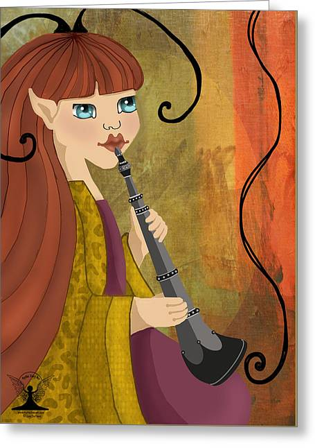 Ancient Music  Greeting Card by Lee DePriest