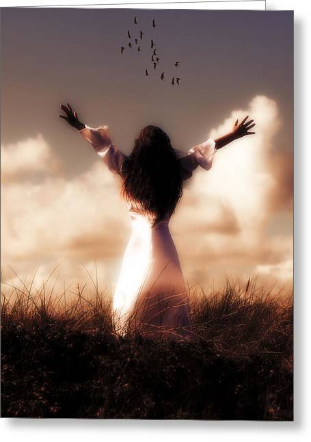 Dream Like Greeting Cards - Angel Greeting Card by Joana Kruse