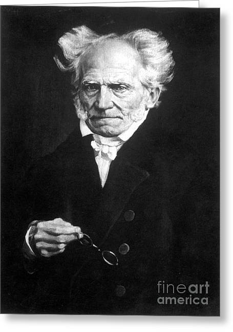 Sideburns Photographs Greeting Cards - Arthur Schopenhauer Greeting Card by Granger