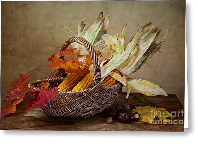 Still Life Greeting Cards - Autumn Greeting Card by Nailia Schwarz