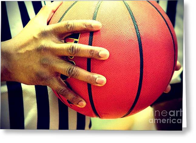 Basketballs Greeting Cards - Basketball Greeting Card by Photos  By Zulma