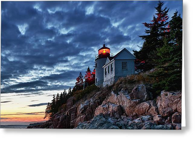 Bass Harbor Lighthouse Greeting Card by John Greim