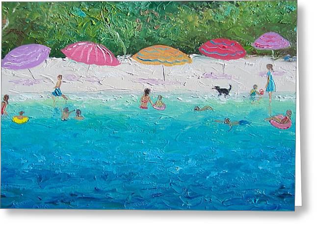 Beach Umbrellas Greeting Card by Jan Matson
