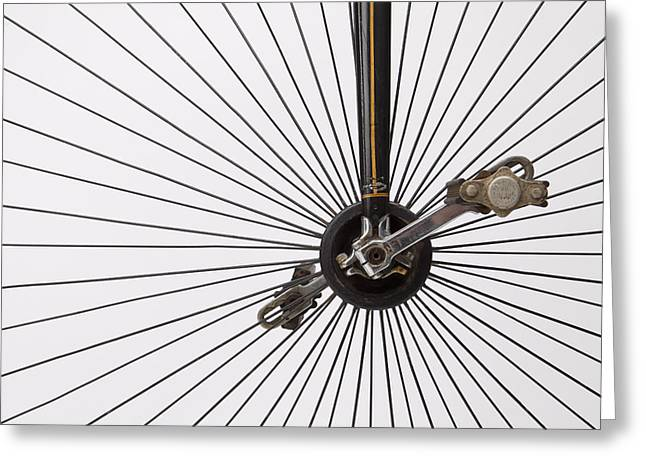 Spokes Greeting Cards - Bicycle Wheel Greeting Card by American School