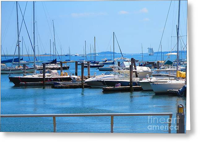 Boston Ma Greeting Cards - Boats Harbour Beauty of Boston MA USA America photography by NavinJoshi FineArtAmerica Pixels Greeting Card by Navin Joshi