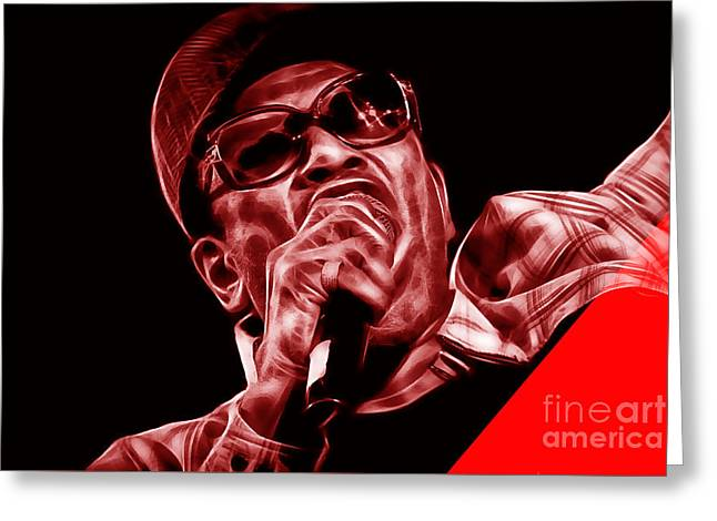 Soul Greeting Cards - Bobby Womack Collection Greeting Card by Marvin Blaine
