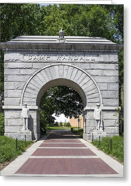 Ralser Greeting Cards - Camp Randall Memorial Arch - Madison Greeting Card by Steven Ralser
