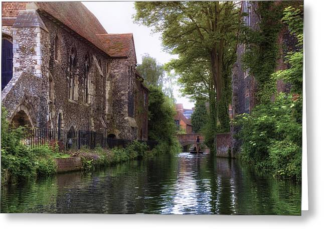 Punt Greeting Cards - Canterbury - England Greeting Card by Joana Kruse