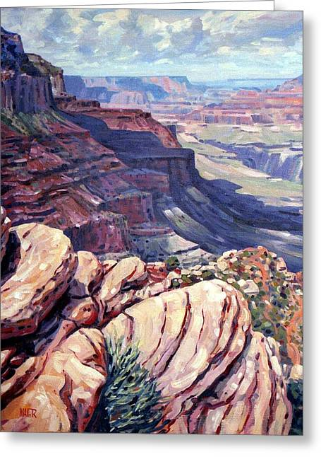 South Rim Greeting Cards - Canyon View Greeting Card by Donald Maier