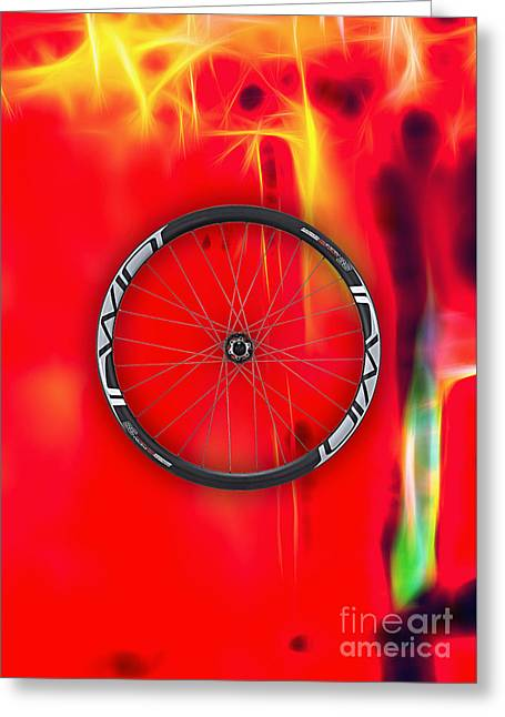 Bicycle Racing Greeting Cards - Carbon Fiber Bicycle Wheel Collection Greeting Card by Marvin Blaine