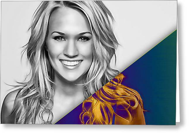 Carrie Underwood Collection Greeting Card by Marvin Blaine