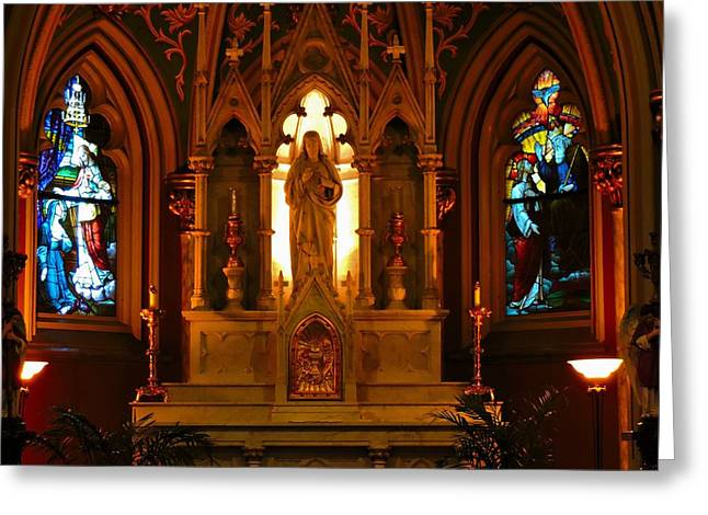 Historic Architecture Greeting Cards - Cathedral of St. John Greeting Card by Brittaney Gresham