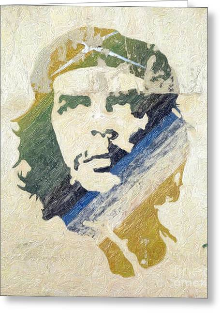 Che Greeting Cards - Che Guevara Greeting Card by Celestial Images