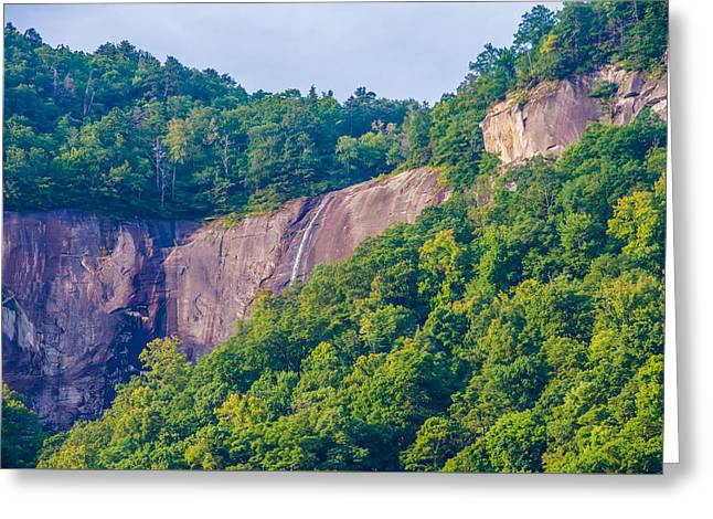 Beautiful Scenery Greeting Cards - Chimney Rock Park And Lake Lure Scenery Greeting Card by Alexandr Grichenko