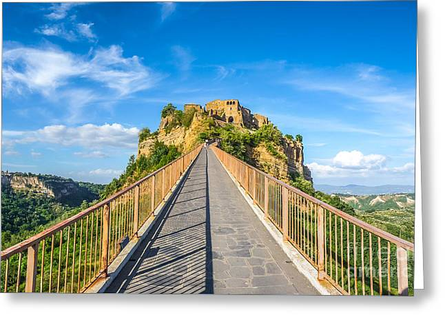Italian Sunset Greeting Cards - Civita di Bagnoregio, Lazio, Italy Greeting Card by JR Photography