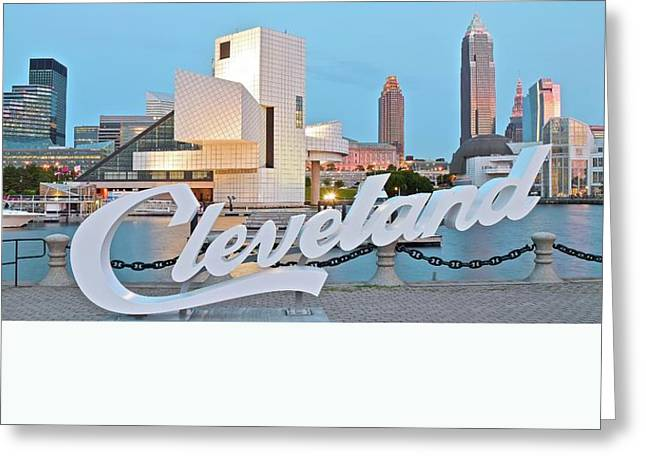 William Photographs Greeting Cards - Cleveland Ohio Greeting Card by Frozen in Time Fine Art Photography