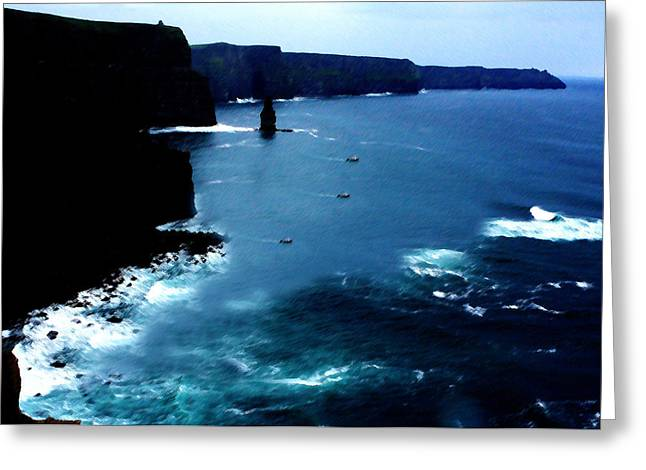 Most Visited Greeting Cards - Cliffs Of Moher Greeting Card by Aidan Moran