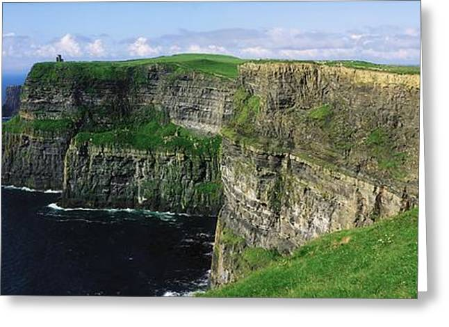 Collection Of Rocks Greeting Cards - Cliffs Of Moher, Co Clare, Ireland Greeting Card by The Irish Image Collection