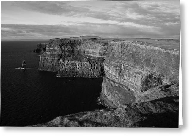 Cliffs Of Moher Greeting Cards - Cliffs of Moher Greeting Card by John Quinn