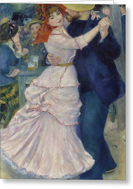 Bougival Greeting Cards - Dance At Bougival Greeting Card by Celestial Images