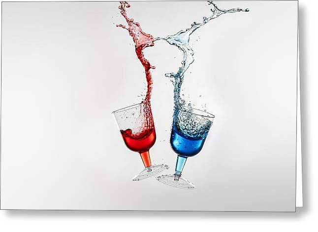 Degustation Greeting Cards - Dancing Drinks Greeting Card by Peter Lakomy