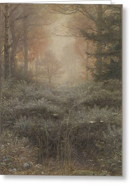 Camelot Greeting Cards - Dew Drenched Furze Greeting Card by John Everett Millais