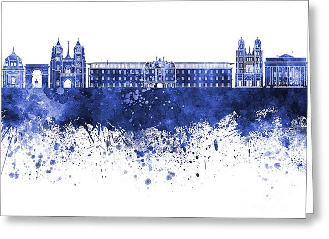 Dijon Greeting Cards - Dijon skyline in watercolor background Greeting Card by Pablo Romero