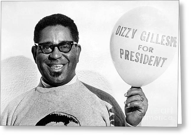 Dizzy Greeting Cards - Dizzy Gillespie (1917-1993) Greeting Card by Granger
