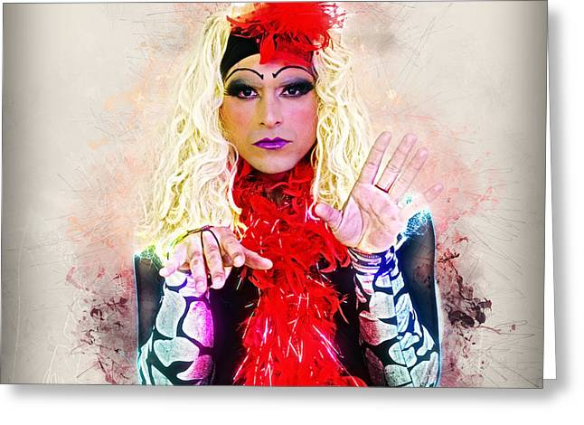 Drag Queen  Greeting Card by Ilan Rosen