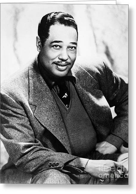 Bandleader Greeting Cards - Duke Ellington (1899-1974) Greeting Card by Granger