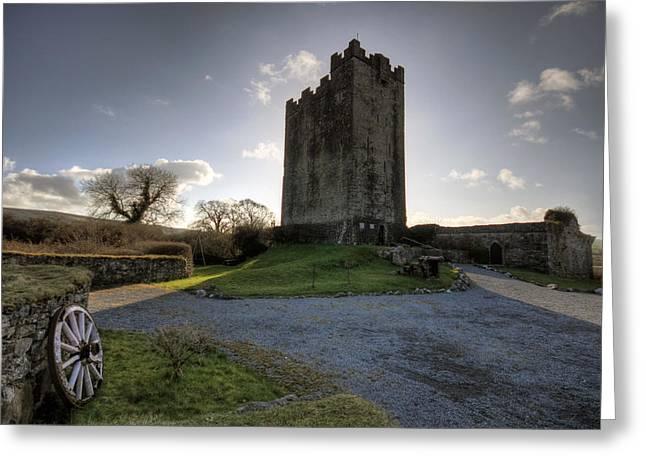 Dysert O Dea Castle Greeting Card by John Quinn