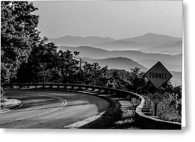 Mountain Valley Greeting Cards - Early Morning Sunrise Over Blue Ridge Mountains Greeting Card by Alexandr Grichenko