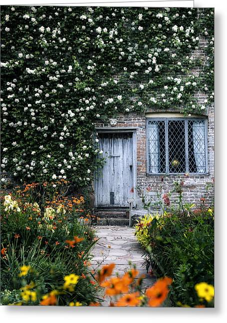 Entrance Door Greeting Cards - English cottage Greeting Card by Joana Kruse