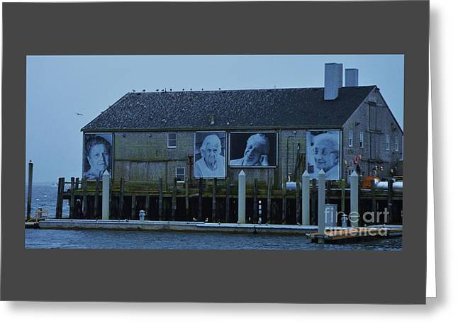 4 Famous Ladies In Provincetown, Cape Cod Greeting Card by Poet's Eye