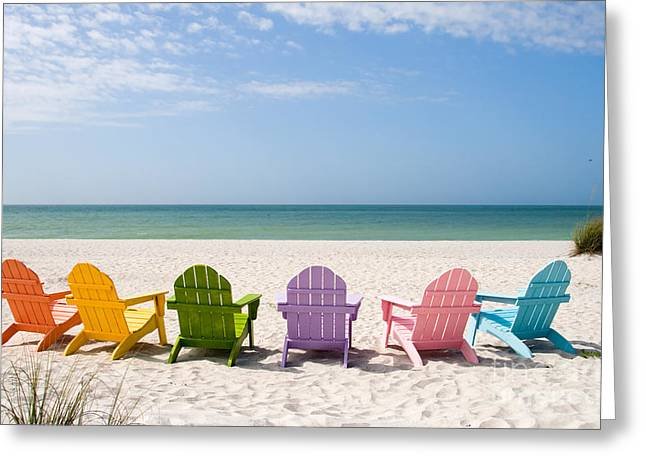 Resort Photographs Greeting Cards - Florida Sanibel Island Summer Vacation Beach Greeting Card by ELITE IMAGE photography By Chad McDermott