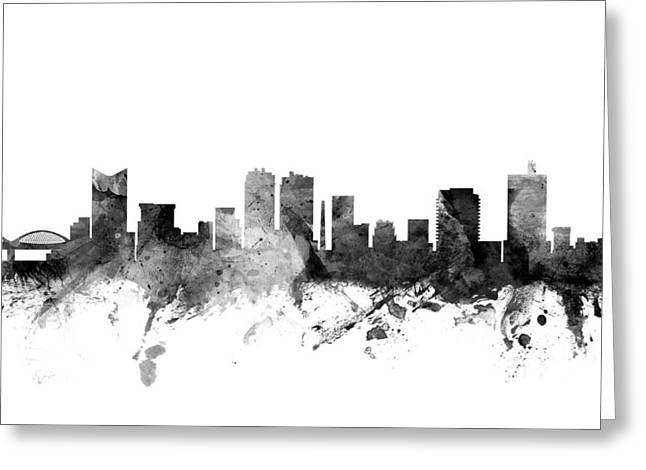 Cityscape Digital Art Greeting Cards - Fort Worth Texas Skyline Greeting Card by Michael Tompsett