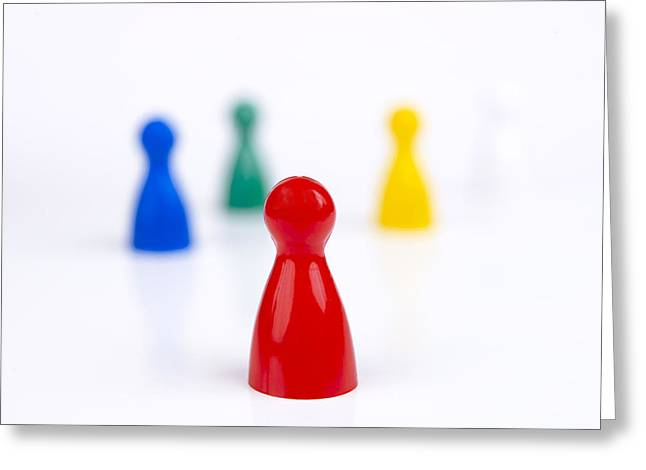 Counter Greeting Cards - Game pieces in various colours Greeting Card by Bernard Jaubert