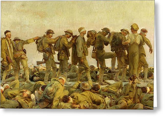 20th Greeting Cards - Gassed  Greeting Card by John Singer Sargent