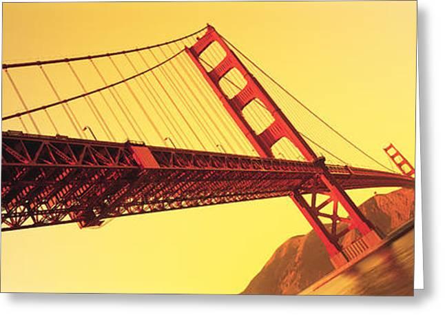 Skewed Greeting Cards - Golden Gate Bridge San Francisco Ca Usa Greeting Card by Panoramic Images