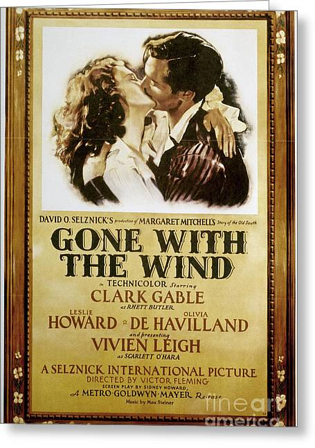 Embrace Greeting Cards - Gone With The Wind, 1939 Greeting Card by Granger