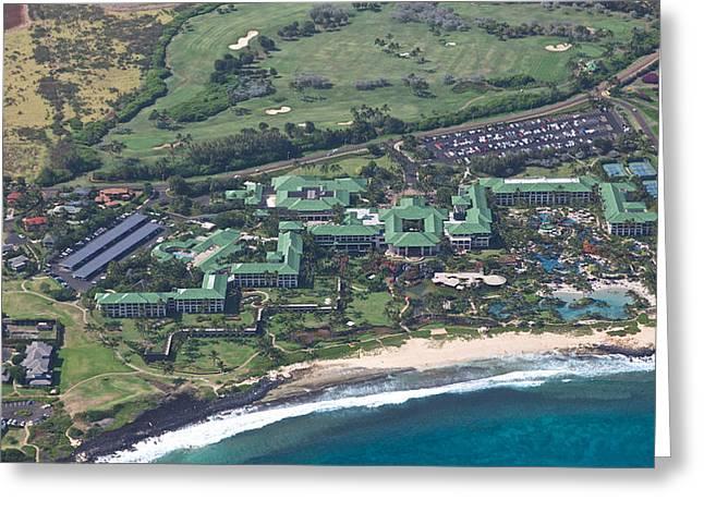 Hyatt Hotel Greeting Cards - Grand Hyatt Kauai Greeting Card by Steven Lapkin